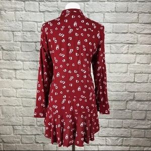 Anthropologie Red Tunic 11.1 Tylho